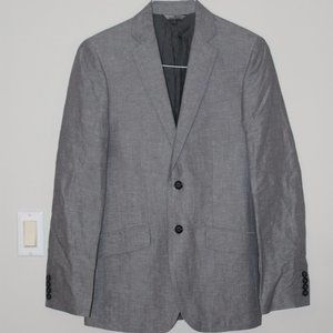 Grey speck linen blend blazer - 34